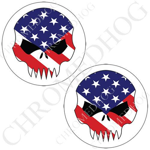 Brake Insert Medallion Decal Set for Harley Front Brembo Caliper USA Skull W