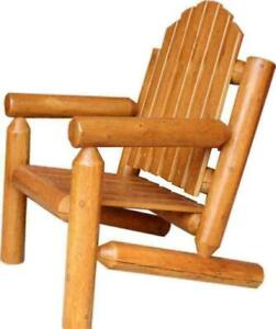 Canadian Handmade Weather Resistant Cedar Wood Patio Cottage Log Chairs Furniture - FREE SHIPPING Canada Preview