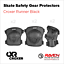 miniature 11 - Roller Skate Safety Gear Protecteurs-croxer taille moyenne-Runner Noir Ou Vert Menthe
