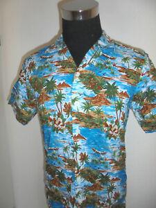 vintage-Dickies-Hawaii-Hemd-shirt-surf-90er-jahre-surfer-90s-oldschool-S-M