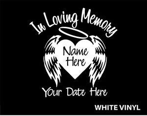 In Loving Memory Of Custom Car Vinyl Decal Window Sticker