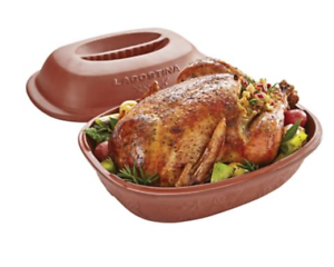 Lagostina-roaster-clay-covered-roast-stew-bake-steam-technology-3-5L-not-pyrex