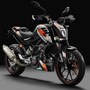 ktm kit grafiche stickers factory duke 125 200 11 16. Black Bedroom Furniture Sets. Home Design Ideas
