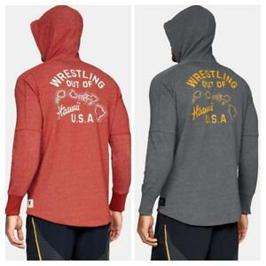 Under Armour UA Project Rock Wrestling Out Of Hawaii USA Zip Hoodie 1326392 Mens