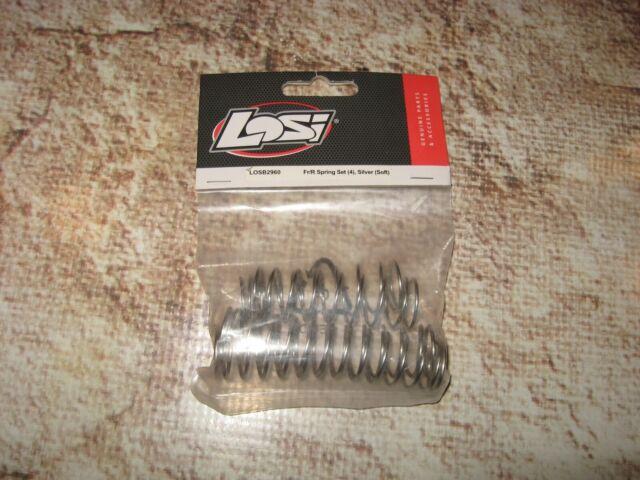 4 Silver Soft Losi SCTE 2.0 SCT  LOSB2960 Fr//R Spring Set