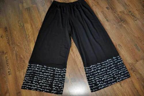 Myo Black Raffinato Stampa Lettera Lagenlook Pantaloni Jersey Marlene O4rnOqfF