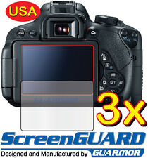 3x Clear LCD Screen Protector Guard Film for Canon Rebel EOS 650D T4i / 700D T5i