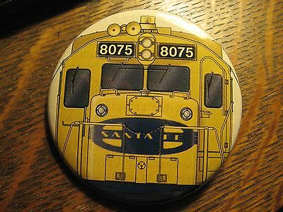 Santa Fe Railroad Model Train Drawing Logo Advertisement Pocket Lipstick Mirror