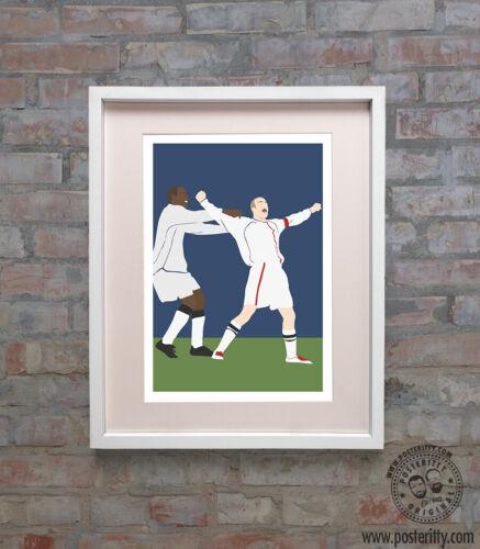DAVID BECKHAM  Greece Goal Minimalist England Football Poster Minimal Posteritty