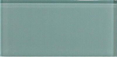 10 Sq Ft of Seaside Aqua Blue//Gray 3x6 Glass Subway Tiles for Kitchen Backsplash//Tub Surround from Rocky Point Tile