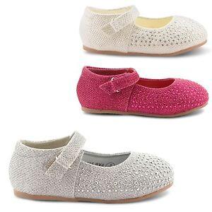 NEW-GIRLS-JUNIORS-KIDS-DIAMANTE-GLITTER-FLAT-BALLET-BALLERINA-SHOES-SIZE-UK-4-10