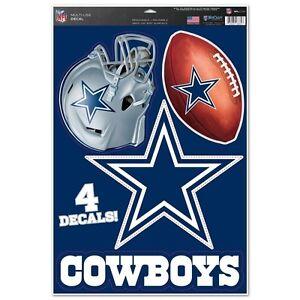 Dallas-Cowboys-11-034-x-17-034-Multi-Use-Decals-Auto-Walls-Windows-Cornhole
