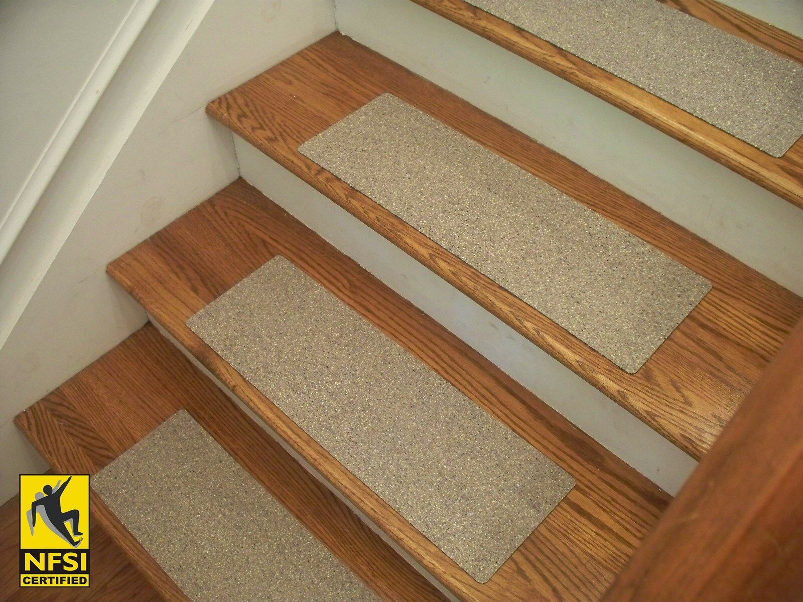 NFSI High Traction - Vinyl Stair Tread Sets - Greige (510) -  24  x 8