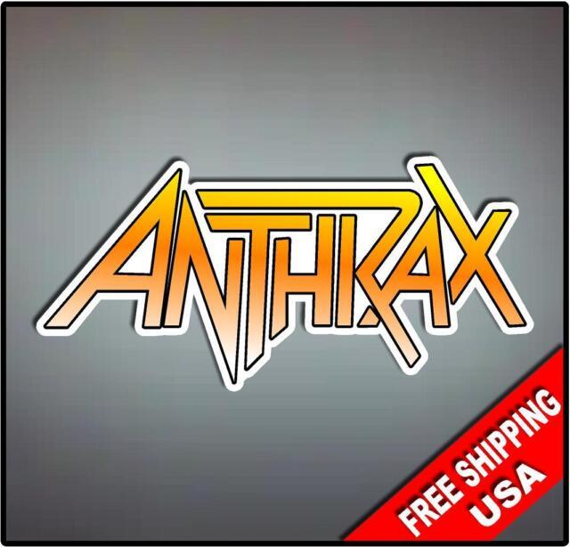 Anthrax Vinyl Wall logo Decal Sticker Heavy Metal Rock Band Various Sizes