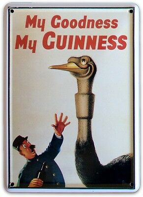 GUINNESS KANGAROO Small Vintage Metal Tin Pub Sign
