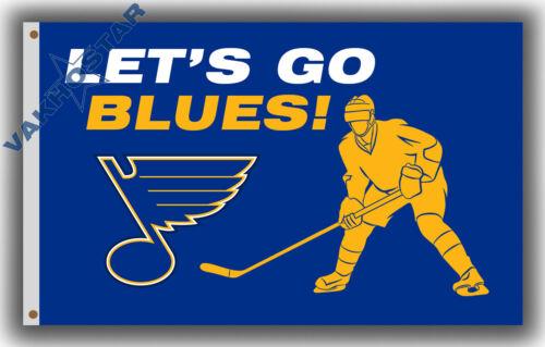 St.Louis Blues Let/'s Go Blues team Fans flag Hockey banner 90x150cm 3x5ft A4