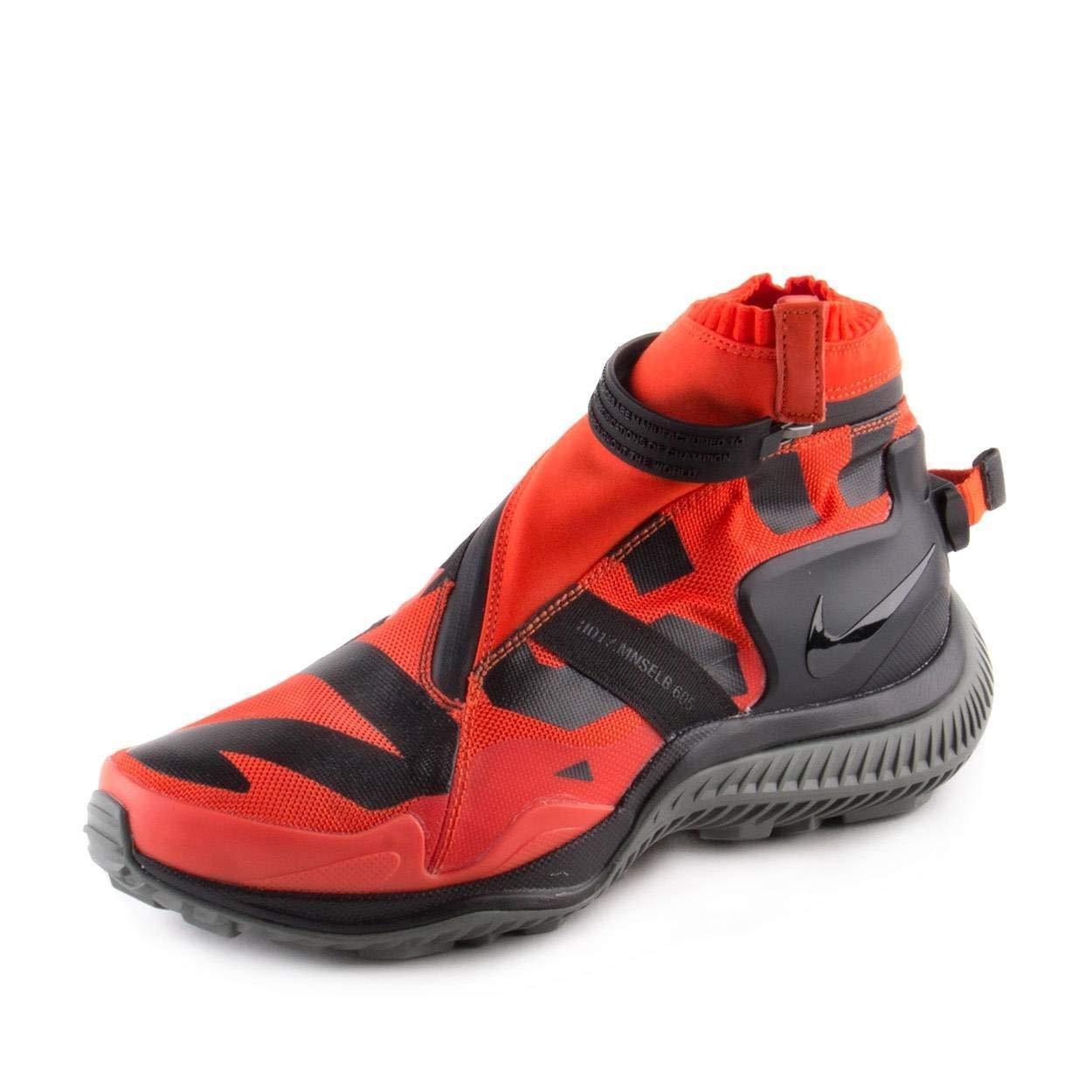 NIKE Mens NSW Gaiter Gyakusou Boot - Size 7.5 (Orange/Black Nylon) AA0530-800