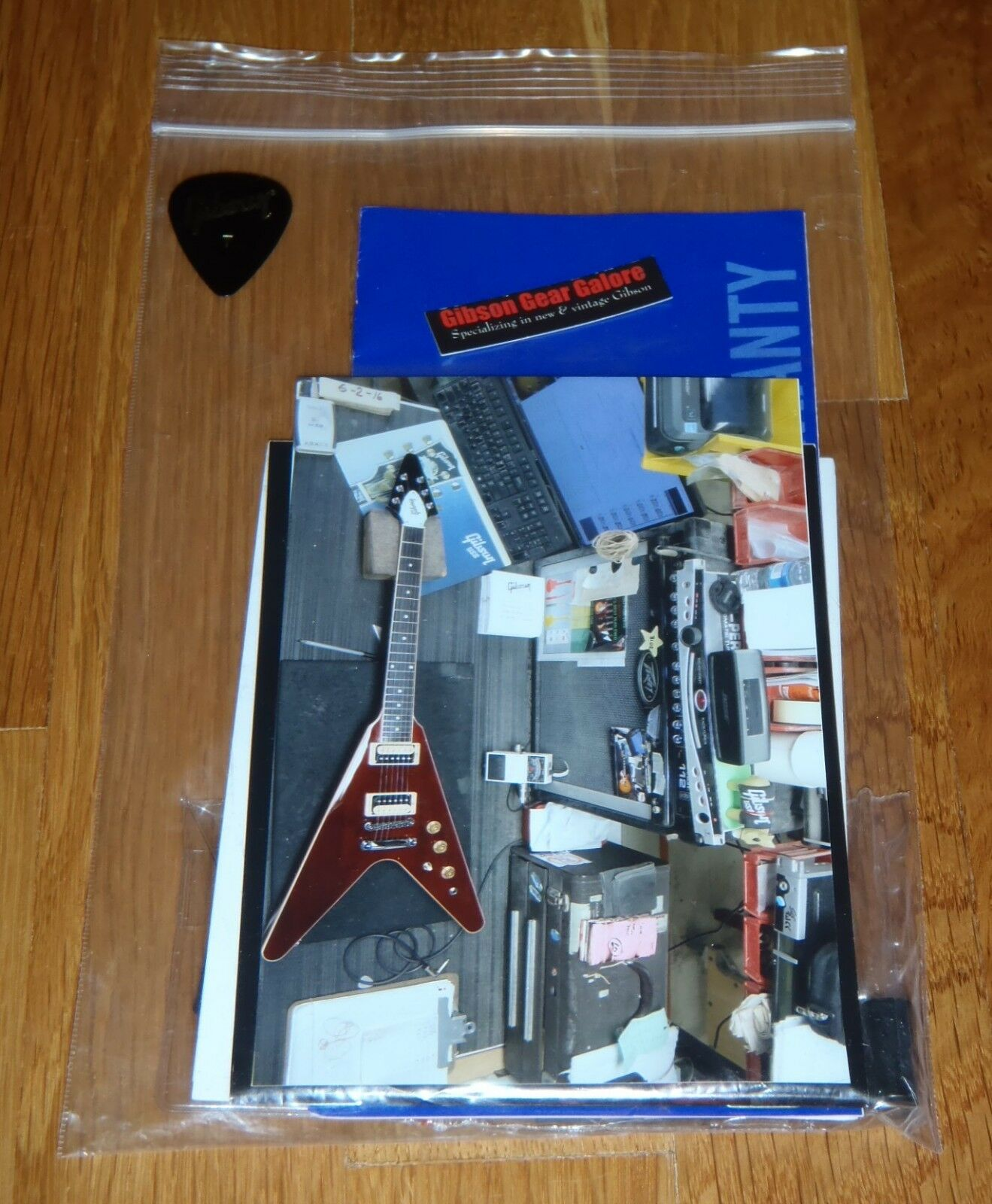 Gibson Flying V Case Candy Manual Warranty Wrench Polishing Cloth Guitar Parts
