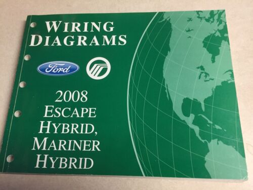 2008 Escape Mariner HYBRID Ford Wiring Diagram Dealers  Workshop Repair Manual