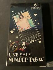 New Facraft 100 Live Sale Plastic Number Tags Numbers 001 100