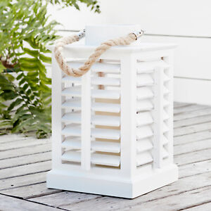 White-Wooden-Battery-Operated-LED-Flameless-Candle-Decorative-Indoor-Lantern