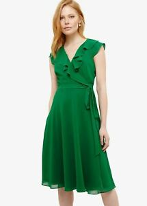 Phase Eight Allegra Wrap Wrap Dress Emerald Size UK14 RRP120