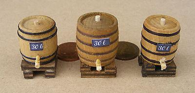1:12 Scale Small Upright 30L Wooden Barrel /& Stand Tumdee Dolls House Pub Bm