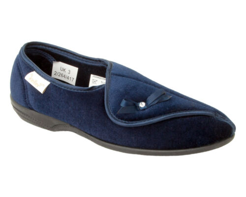 WOMENS DR KELLER MEMORY FOAM ORTHOPAEDIC ADJUSTABLE SLIP ON SLIPPERS LADIES SIZE