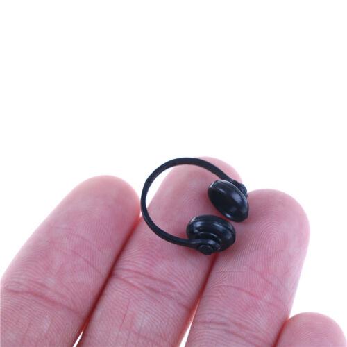 1//12 Scale Dollhouse Miniature Accessories Black Earphone Headphone NIUS