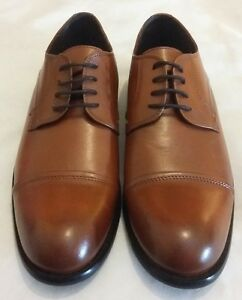 NORBERTO COSTA Derby Lace-up Leather Shoe Tan Size uk 7 eu 41