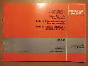 Ersatzteilliste-Deutz-Fahr-Ballenschleuder-BS-3450-Bale-Thrower-Ausgabe-1980