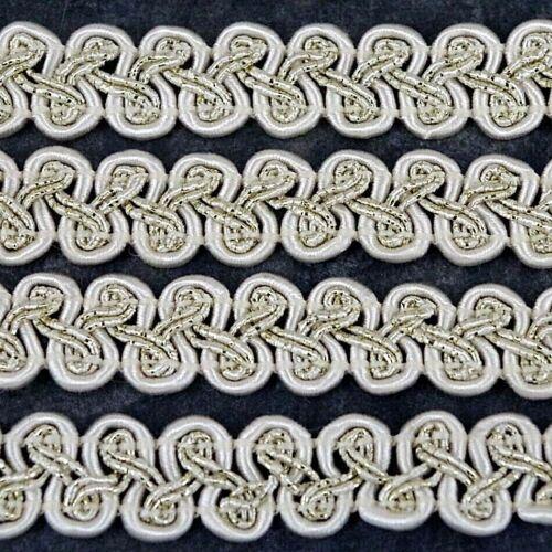 tradicional tapicería Marfil 12mm Ancho Vendido Por Metro G40 Recorte de GIMP Trenza
