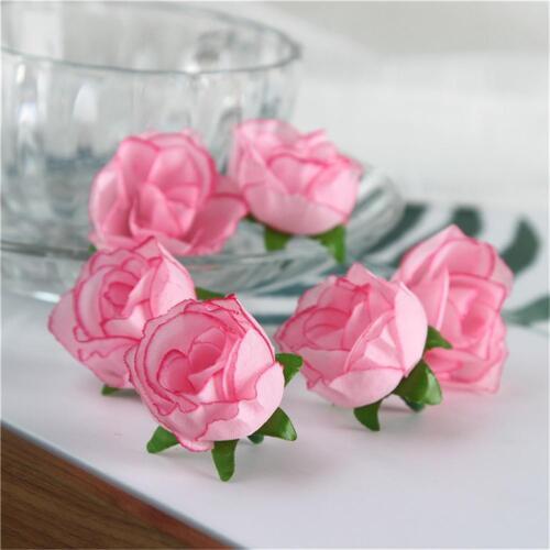 Various Pick 50xArtificial Floral Silk Rose Flower Blossom Heads Bulk Home Decor