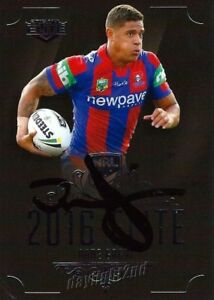 ✺Signed✺ 2016 NEWCASTLE KNIGHTS NRL Card DANE GAGAI