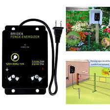 2 Mile Electric Fence Energizer 8 Acres 120 Volt Preventing Wild Animals