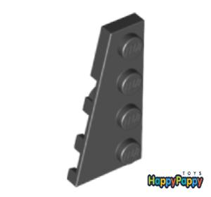 Lego 6x Flügel Platte 4x2 Links Schwarz Black Wedge Plate Left 41770 Neuware New