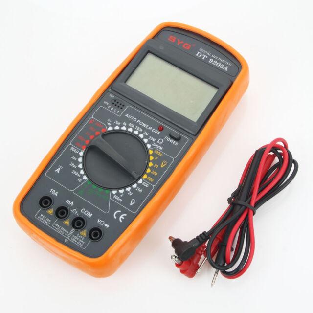 Newest Digital Multimeter DT9205A Voltmeter Ohmmeter Ammeter Capacitance Tester
