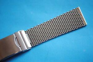 Aristo Acier Inox Bracelet De Montre 18 20 24mm Milanaise Tresse