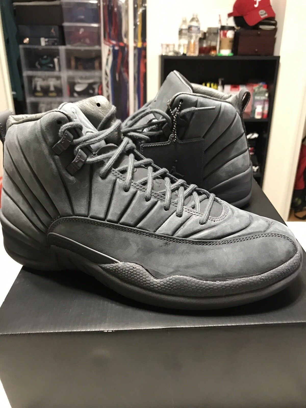 NIKE AIR JORDAN 12 GREY PSNY SZ 10.5