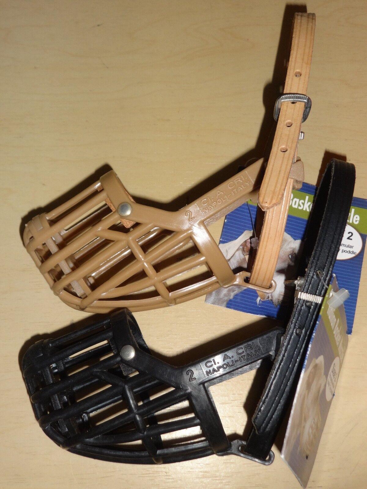 OmniPet M180-1 Italian Basket Dog Muzzle Size 1 Tan