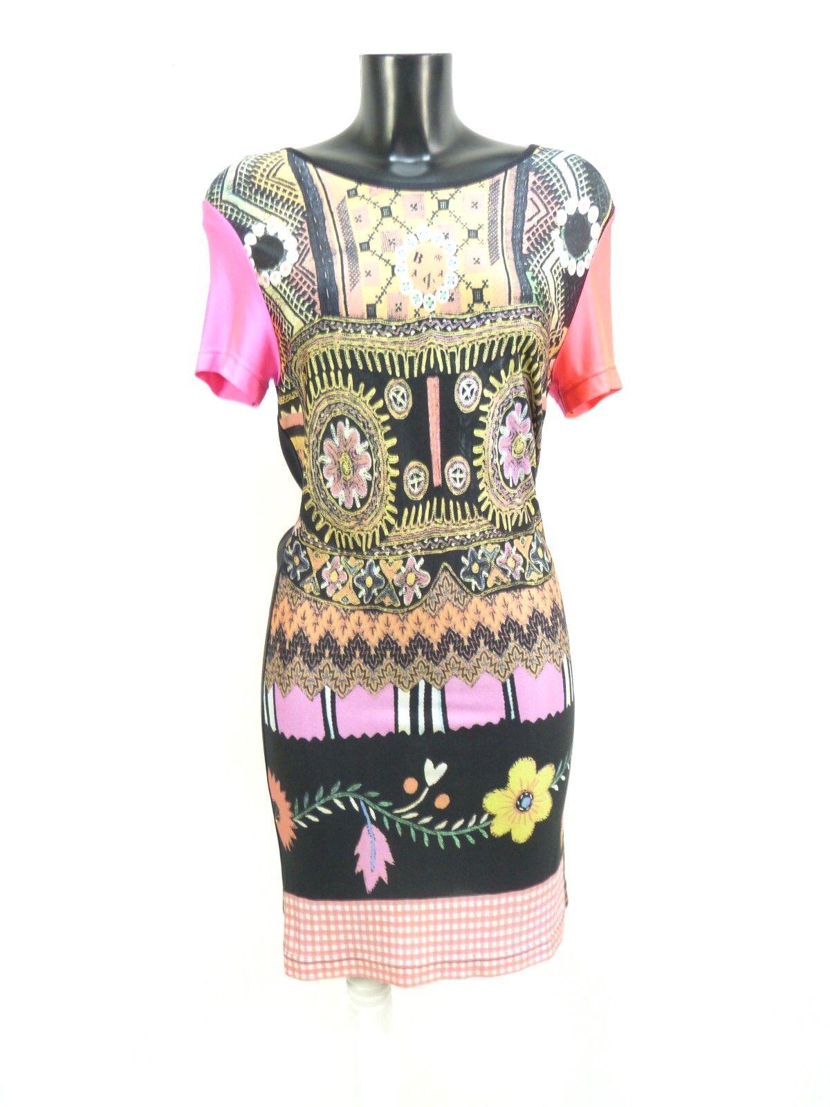 CHRISTIAN LACROIX Bazar multi pattern dress vintage style sz M   44 It   8 US
