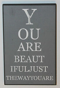 Eye Chart Wall Art You Are Beautiful Sign Wooden Plaque Valentine Gift Birthday