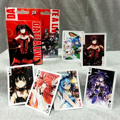 DATE·A·LIVE Manga Art Playing Cards Poker 54pcs With Box Gift
