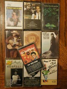 Country Rock Soul Cassette lot of 10 Elvis Aretha Franklin Hank Williams Jr. B.B
