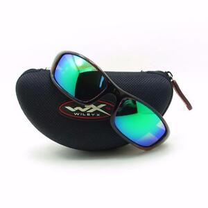 bd67e80530 Wiley X P-17 KA Gloss Demi Polarized Emerald New Authentic ...