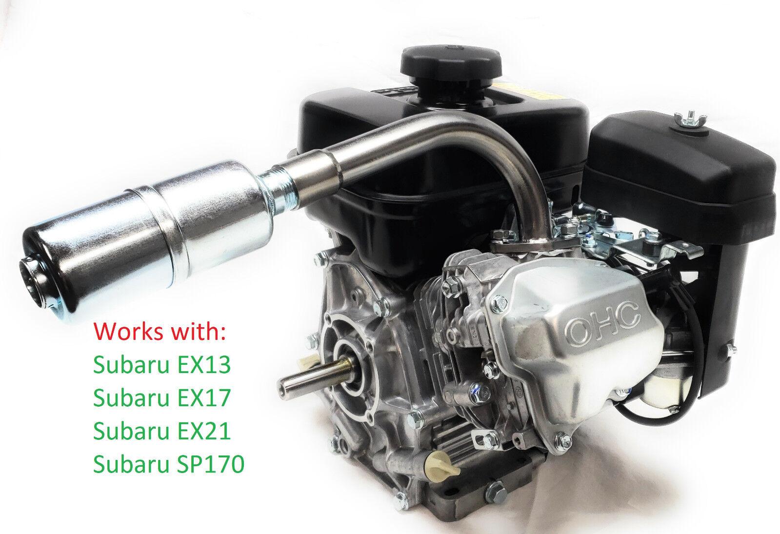 Exhaust With Muffler for Mud Motors  Subaru Robin EX13, EX17, EX21, EX27, SP170