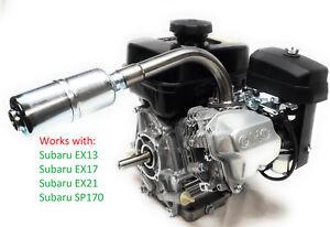 HONDA GX390 MUD MOTOR HEADER W//MUFFLER ANGLED MUD BOAT HEADER ANGLED HEADER KIT
