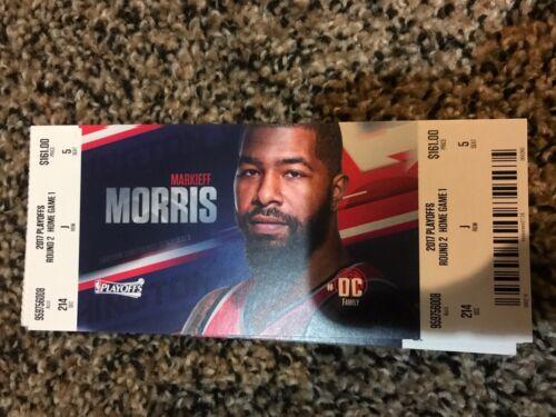 2017 WASHINGTON WIZARDS VS BOSTON CELTICS Playoff ticket stub game #3 MORRIS