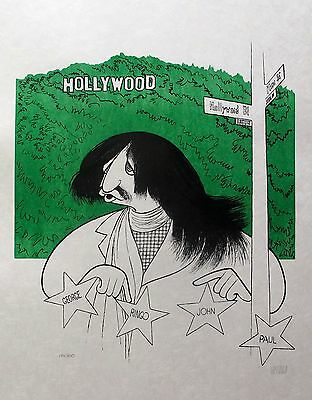"""AL HIRSCHFELD """"RINGO STAR"""" Hand Signed Limited Edition Lithograph THE BEATLES"""