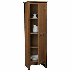 Fine Ameriwood 7303028 Milford Single Door Storage Pantry Cabinet Old Fashioned Pine Brown Interior Design Ideas Ghosoteloinfo